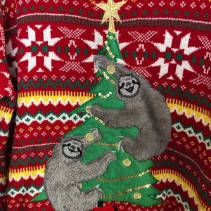 33 Degrees Sweaters Nwt Ugly Christmas Sweater Sloths Lxl Poshmark